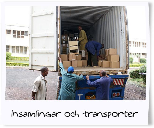 Insamlingar och transporter